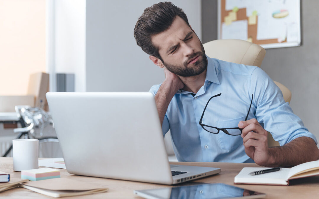 Stressed worker needing to prevent personal burnout