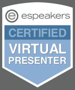 Carolyn Stern - eSpeakers Certified Virtual Presenter Badge
