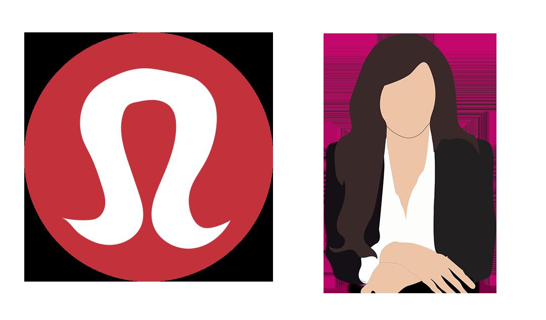 Carolyn Stern and Lululemon Logo