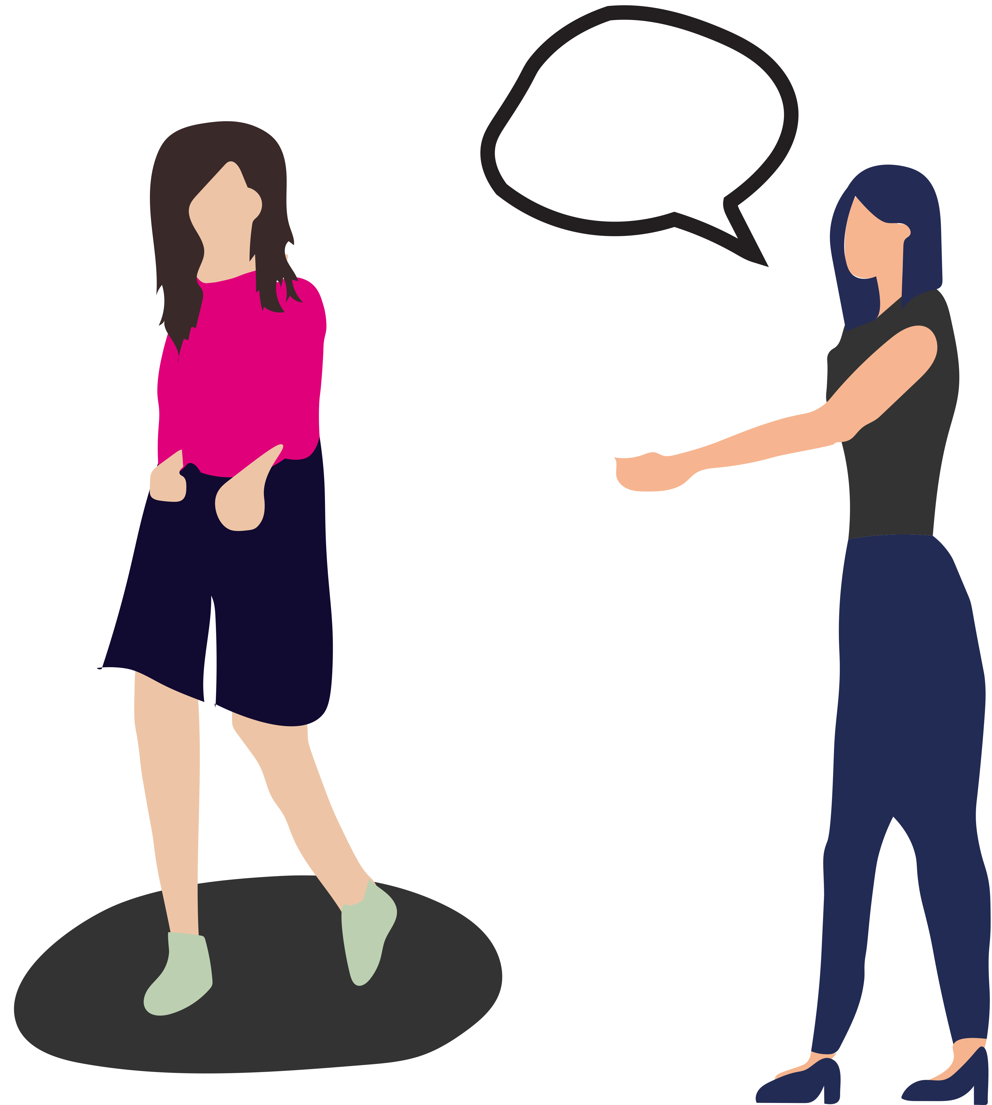 Woman trying on shorts with a salesperson giving feedback